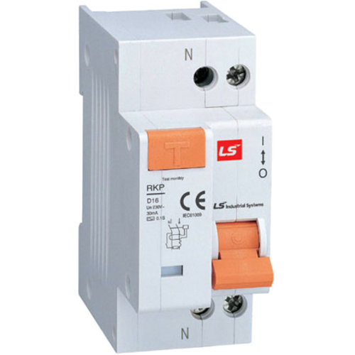 LS ELECTRIC (RKP) - 16A, 30mA, 1 pole + N, RCCB Earth Leakage