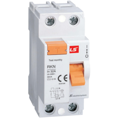 LS ELECTRIC (RKN) - 63A, 30mA, 1 pole + N, Earth Leakage