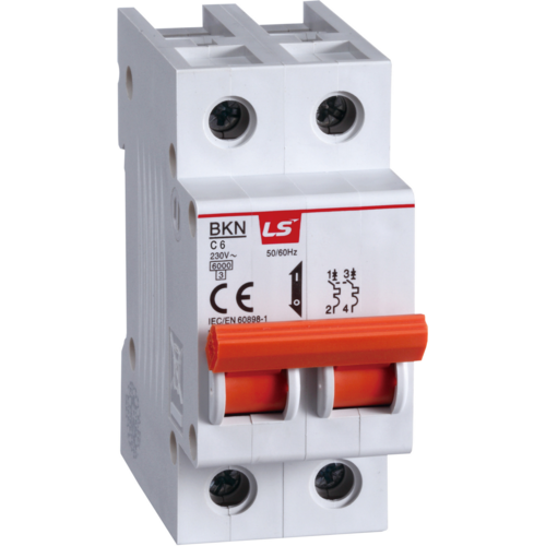 LS ELECTRIC (BKN) - 10A, 2 pole, C-curve, MCB
