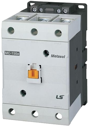 LS ELECTRIC (MC) - 60kW, 130A @ 400V AC, 24V AC Coil, 3 pole, Magnetic Contactor