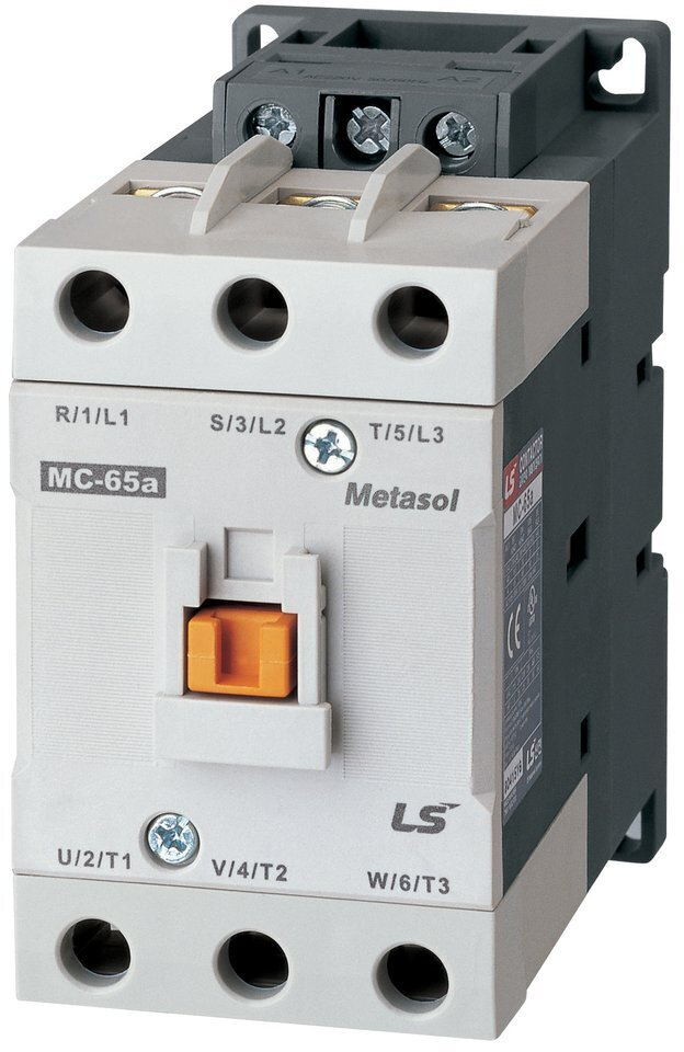 LS ELECTRIC (MC) - 30kW, 65A @ 400V AC, 24V AC Coil, 3 pole, Magnetic Contactor