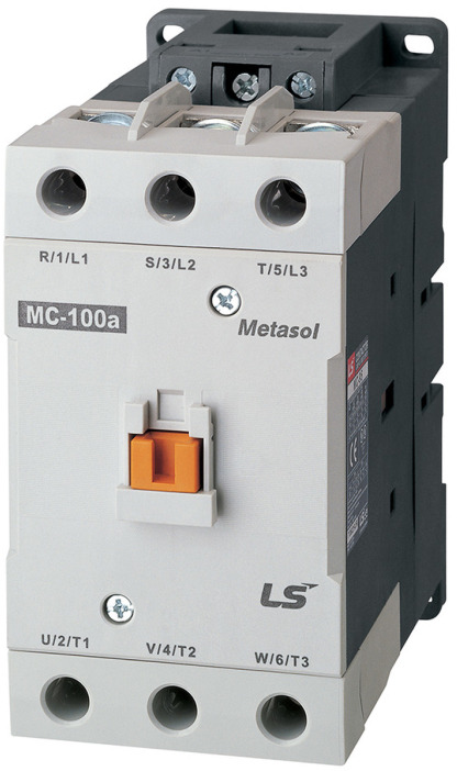 LS ELECTRIC (MC) - 55kW, 105A @ 400V AC, 415V AC Coil, 3 pole, Magnetic Contactor