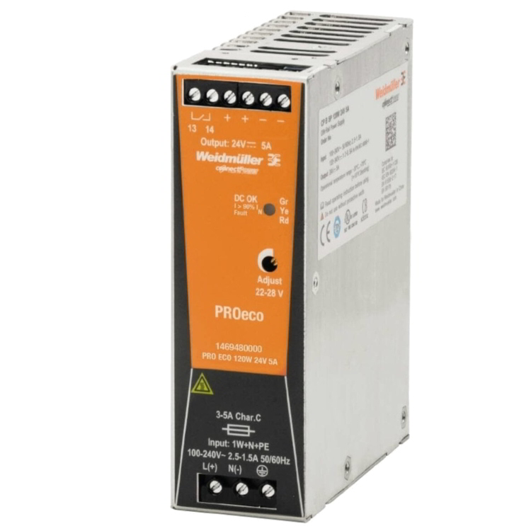 Weidmuller (PRO-ECO3) - 120W, 24V DC Out PSU